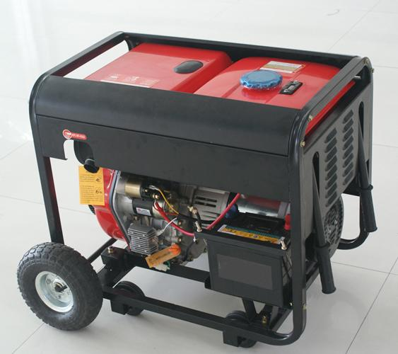 2.0 kw - 12.0 kw Single phase recoil / electric start diesel power generators for home