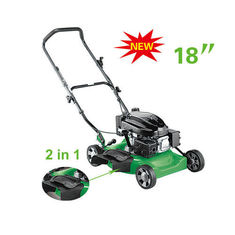 China 2 in 1  18 inch  Gasoline lawn mower , push lawn mower machine grass trimmer supplier
