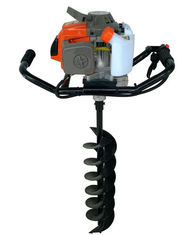 China 2 Stroke Gasoline Powered Earth ground hog post hole digger with Metal Material supplier