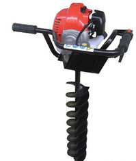 China High power gasoline earth auger with brake / ground drilling machine supplier