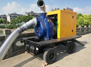 China CUMMINS Engine Portable Gasoline Water Pump 8 Inch Move Water Pump supplier