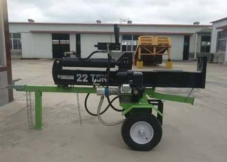 China Gasoline 6.5HP Mechanical Wood Splitter , Max Force 22 Ton Hand Log Splitter supplier