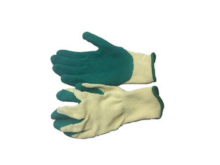 China Working Coated Latex Rubber Gloves / 10 Gauge Natural Latex Gloves For Farm supplier