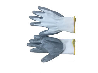 China 50g Safety Nylon Working Glove , Nitrile Surface Working Hand Gloves supplier