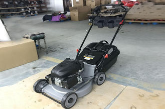 China Gasoline Engine Portable Garden Lawn Mower 19 Inch With Aluminum Deck Plastic Grass Box supplier