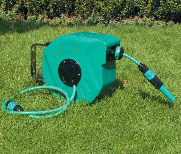 Plastic Retractable Garden Hose Reels 10m/15m/20m/30m , Garden Hose  Retractable Reel