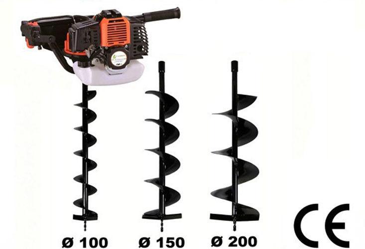 Garden tools worm wheel gearcase 52cc earth drill post for Garden tools for 4 wheeler