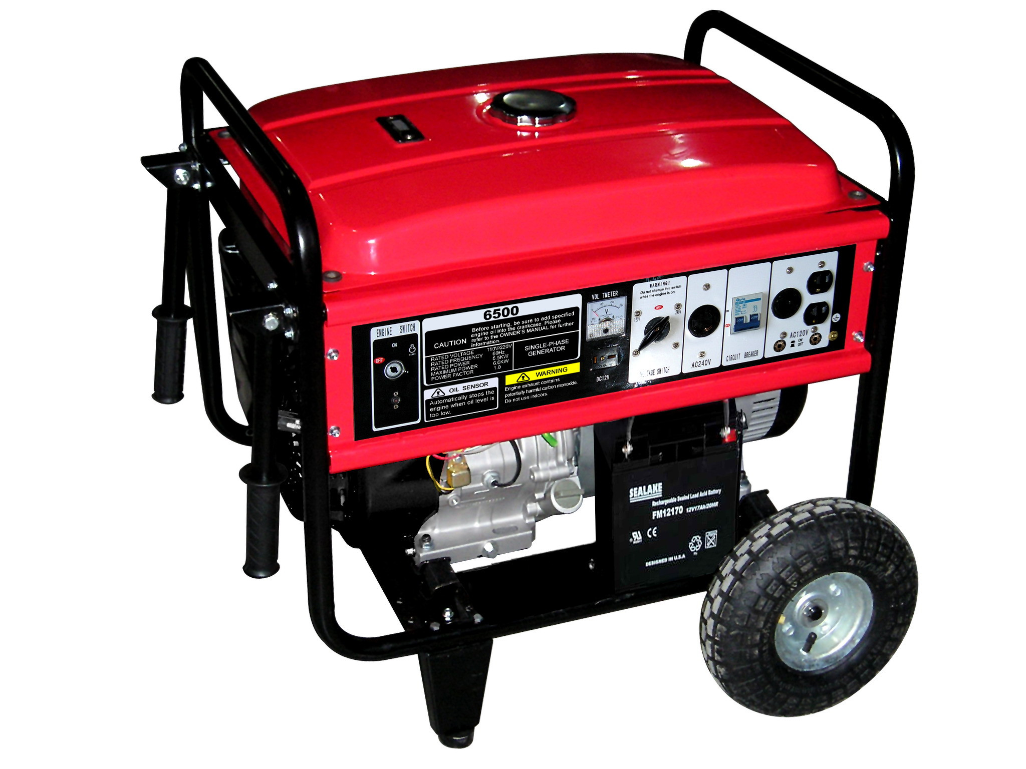 6kw - 8.5kw 220V Portable Gasoline Generator , mini small petrol generator set