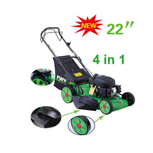 Self - propelled gasoline garden grass lawn mower with 22 inch Blade