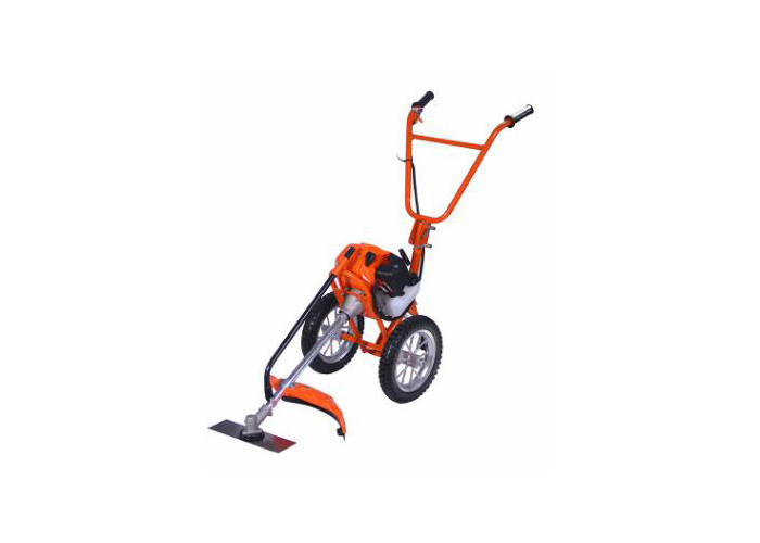 Petrol Power Hand Push Grass Cutter With 3T Metal Blade 43cc 62x47x32cm
