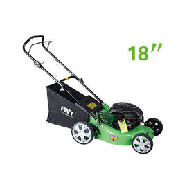 China 460mm 18'' Petrol Gasoline Garden Lawn Mower with Steel Deck , Hand push lawn mower factory