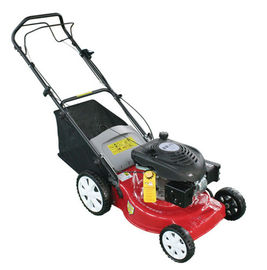 China 18 Inch Hand push Gasoline lawn mower , Petrol / Gas powered lawn mower factory
