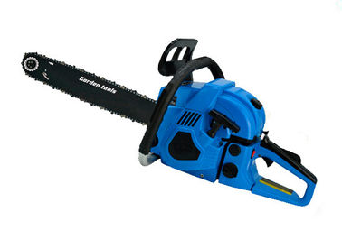 China Air Cooling Gas Powered Chain Saw With Dual Metal Blade 600mm Length distributor
