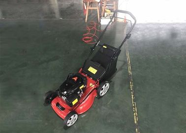 China Hand Push Lawn Mower Gasoline / Gas Powered Push Lawn Mower 60L Grass Box distributor