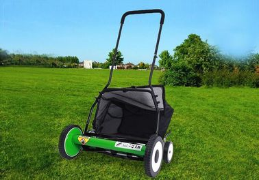 China 20 Inch Manual Garden Lawn Mower  With 4 Wheels Cutting Height 34-64mm distributor